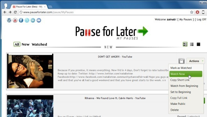 Pause For Later