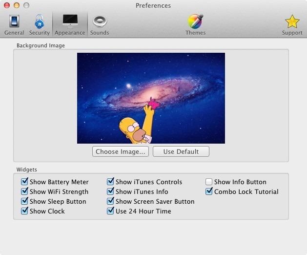 Screen Vault widgets