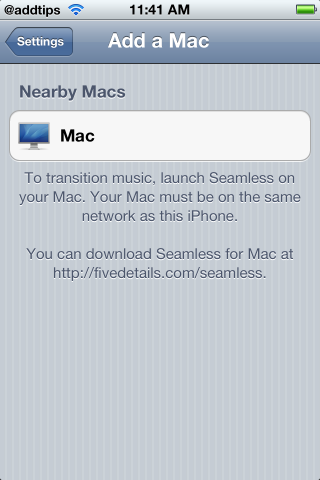 Seamless mac