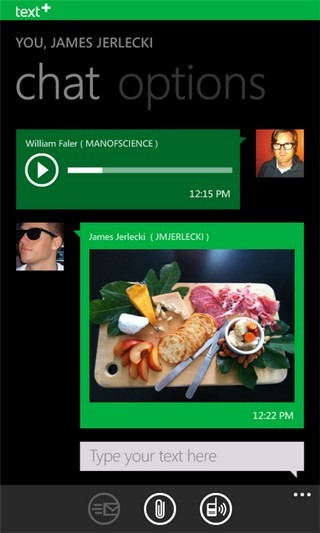 TextPlus WP7 Chat