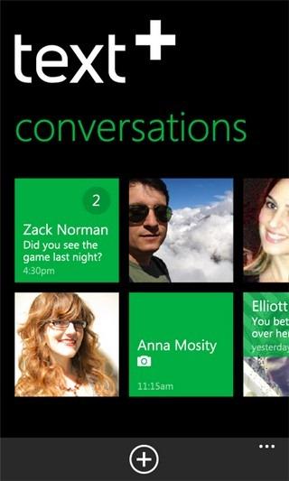 TextPlus WP7 Conversations