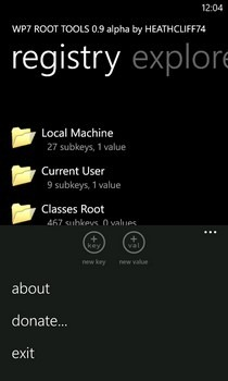 WP7 Root Tool Home