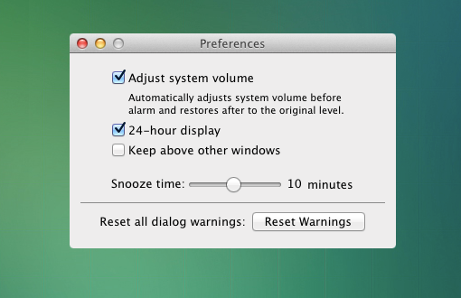 Wake Up Time preferences