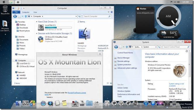 Windows 8 - Mountain Lion