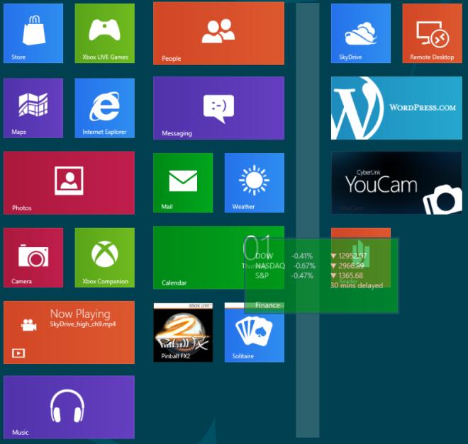 Windows 8 Organizing Tiles in Groups