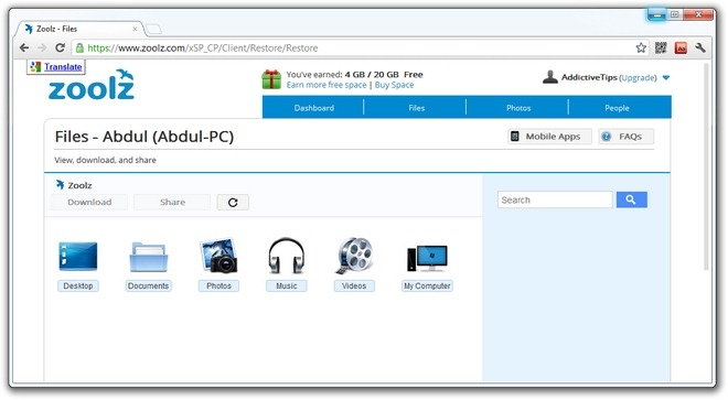 Zoolz-Android-PC-Client-Web