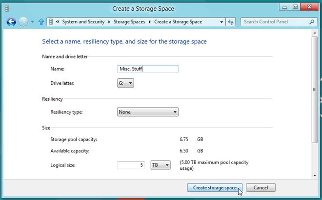 create storage space