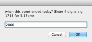 iCal Time-Recording  end event