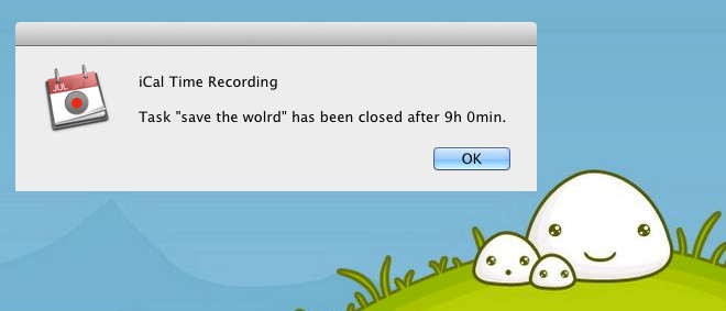 iCal Time-Recording total time
