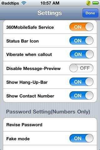 360MobileSafe Settings