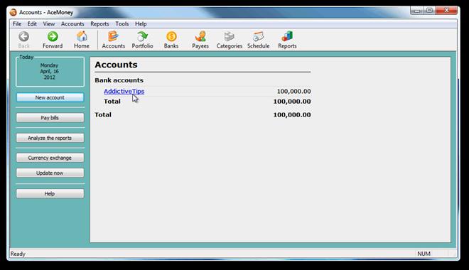 Accounts - AceMoney