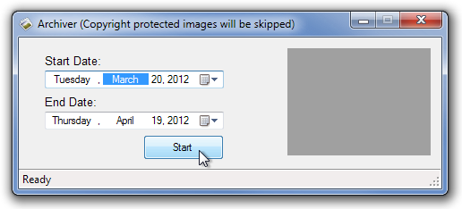 Archiver (Copyright protected images will be skipped)