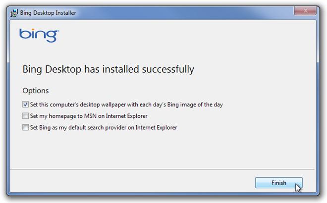 Bing Desktop Installer