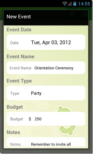 Budget-Android-New-Event