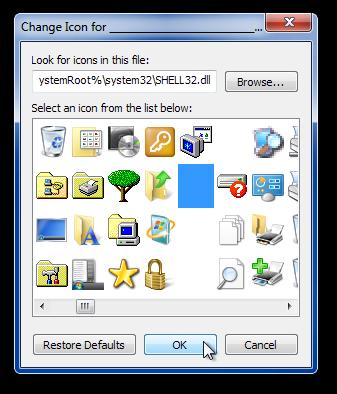 Change Icon for ____________________________________ Folder
