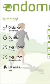 Endomondo Workout Summary