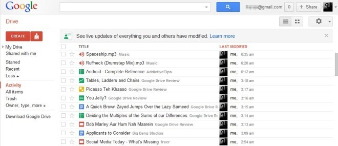 Google Drive Web Activity