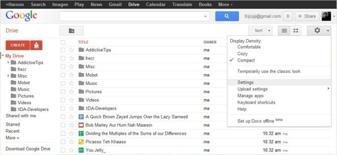 Google Drive Web Home