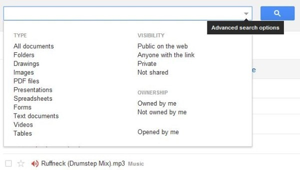 Google Drive Web Search