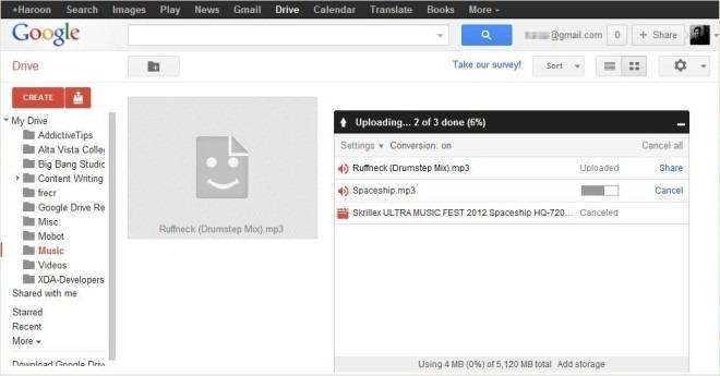 Google Drive Web Upload