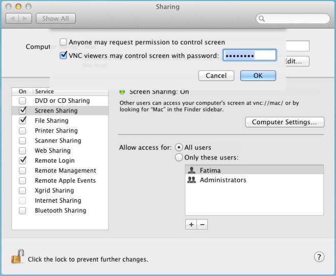 Mac Lion Screen Sharing