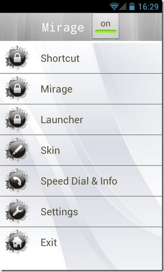 Mirage-Android-Home