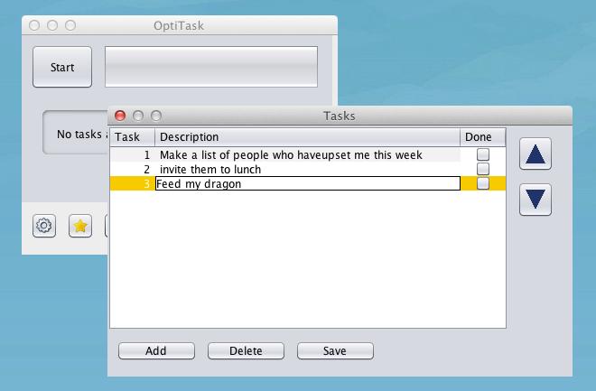 OptiTask add task