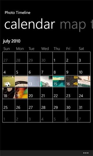 Photo Timeline Calendar