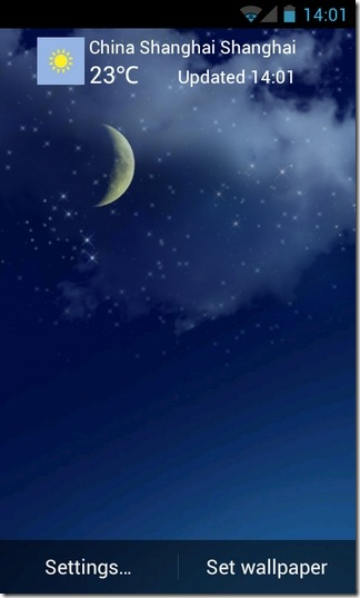 Sky-Weather-LWP-Android-Home