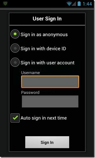 SopCast-Android-Login