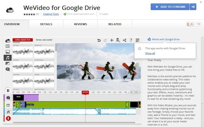 Works With Google Drive Chrome Web App WeVideo