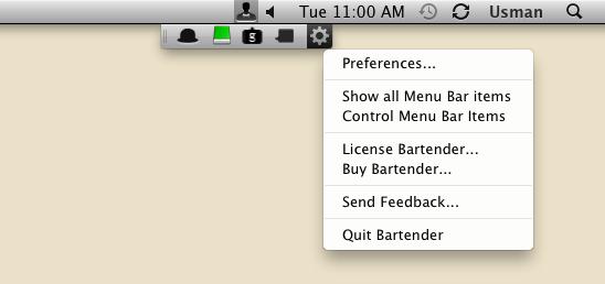bar tender settings