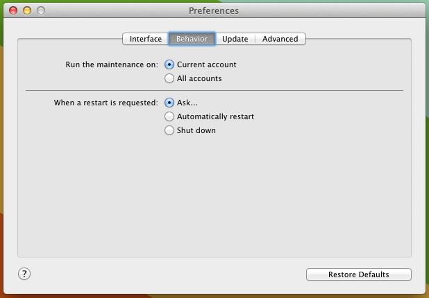 maintanance settings 3