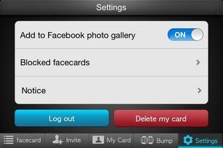 my facecard Settings