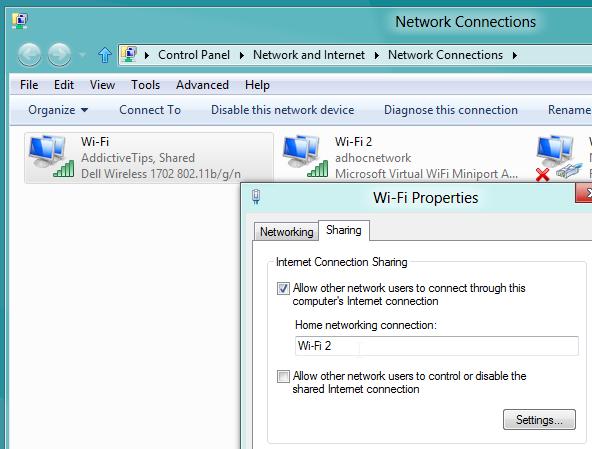 share network internet