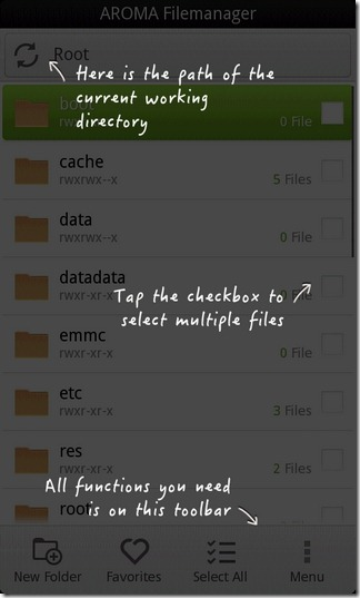 AROMA-File-Manager-Android-Splash