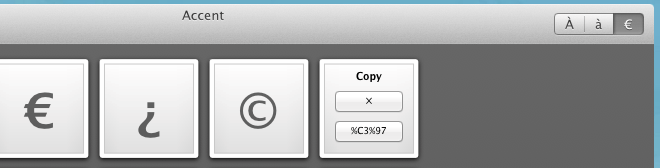 Accent copy