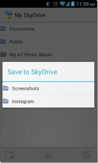 Android-SkyDrive-Explorer-Upload