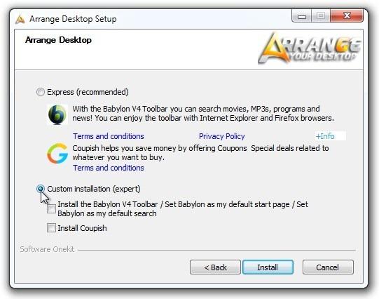 Arrange Desktop Setup