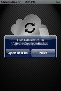 Certificate Backup