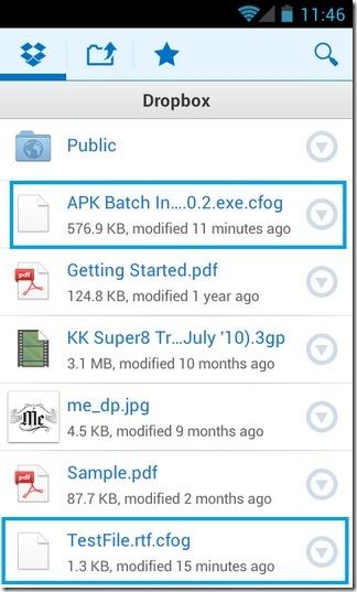 Cloudfogger-Android-Dropbox-Folder