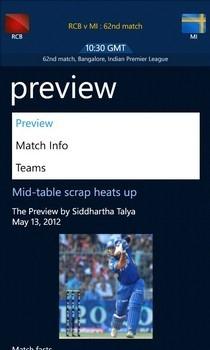 ESPNcricinfo Match Page