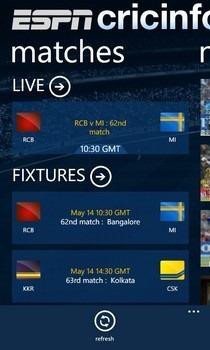 ESPNcricinfo Matches