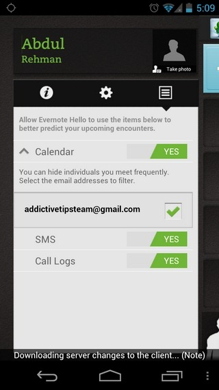 Evernote-Hello-Android-My-Profile
