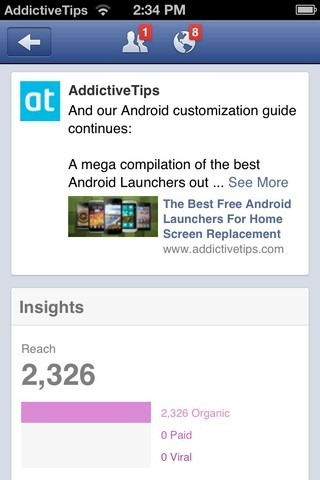 Facebook Pages Manager Post Insights