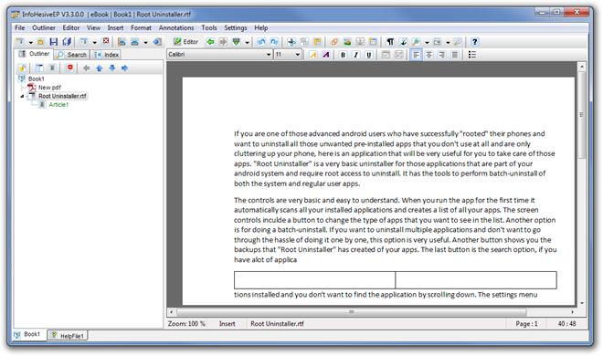 InfoHesiveEP V3.3.0.0   eBook  Book1  Root Uninstaller.rtf