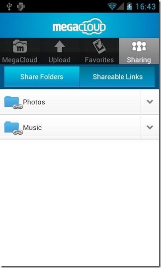 MegaCloud-Android-Share