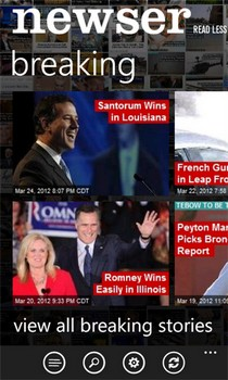 Newser For WP7: News App With Concise Stories, Readers' Reactions & A Great UI