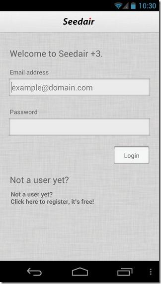 Seedair 3-Android-Login