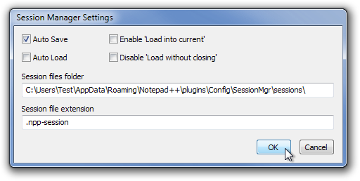 Session Manager Settings